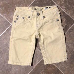 Light yellow miss me Bermuda shorts